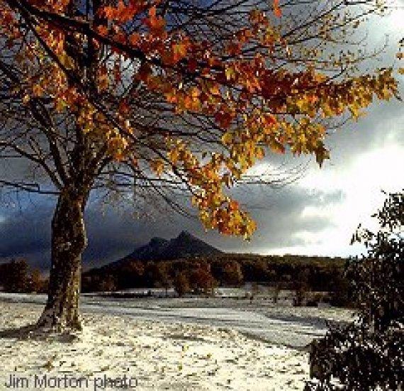 Autumn Snow Blue Ridge Parkway Cabin Rentals