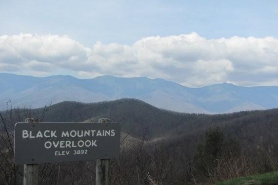 Black Mountain Overlook On The Blue Ridge Parkway Blue